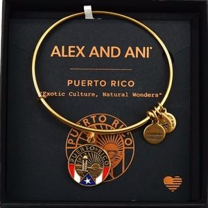 Alex And Ani Puerto Rican Gold Bangle